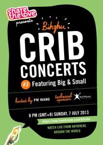 #CribConcerts Bihzhu poster 7 July